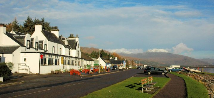 The Lochcarron Hotel Is Situated In Wester Ross On West Coast Of Scottish Highlands