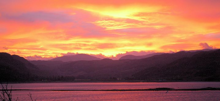 A sunrise as seen from Lochcarron village.